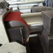 Rozsdamentes cső áthatás csiszolása 101,3x2mm